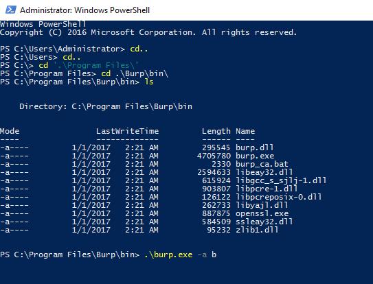 varmuuskopiointipalvelun tarkistus Windows Powershell